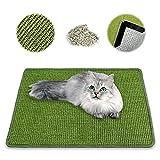 NASTRA Alfombrilla para Rascar Gatos, Sisal Natural Satisface la Naturaleza de los Rasguños de los Gatos y Protege la Seguridad de los Muebles (Verde) 40 * 60 cm