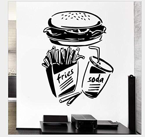 Pegatinas De Pared Decorativas Coke Burger Generación Tallada Extraíble Personalidad Estudio De Pared Sala De Estar Dormitorio Sofá Pared De Fondo 44 * 70 Cm