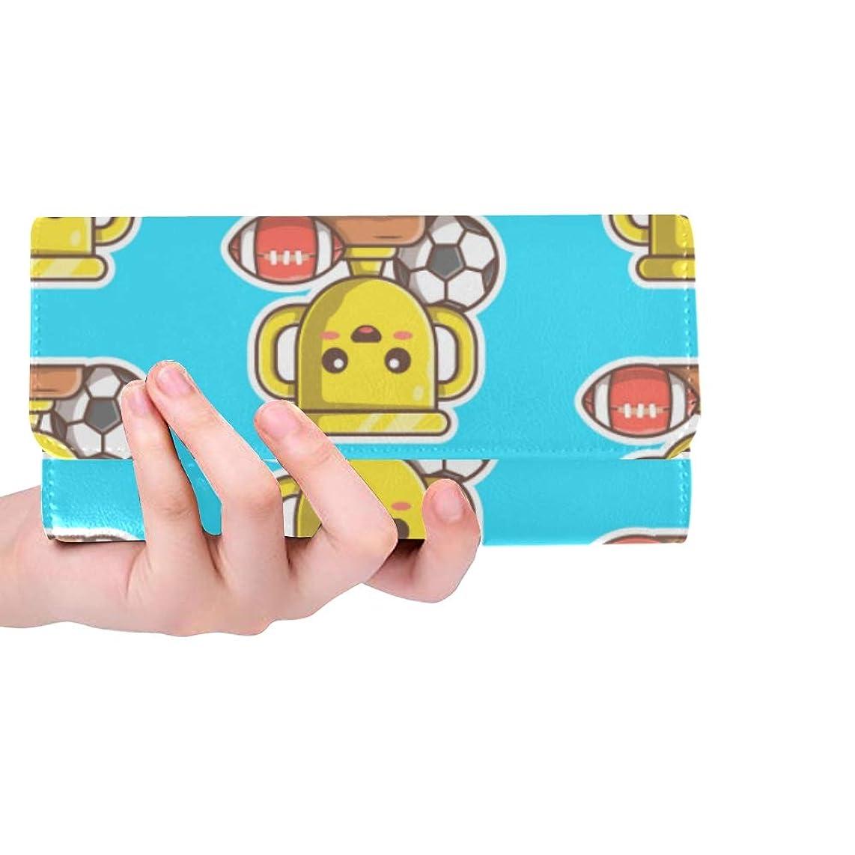 Unique Custom Trophy Decoration Competition Proud Women Trifold Wallet Long Purse Credit Card Holder Case Handbag