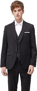 Men's 3 Piece Suit Slim Fit Wedding Business Suit for Men Classic Color Two Buttons Blazer Waistcoat and Pant