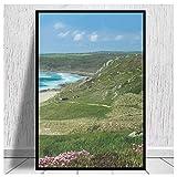 DNJKSA Whitesand Bay Cornwall Druck auf Leinwand Hd Art