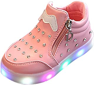 Kids LED Light Up Shoes Boy Girl Soft Knit Breathable Sock Soles Casual Flashing Slip-On Sneakers as Gift