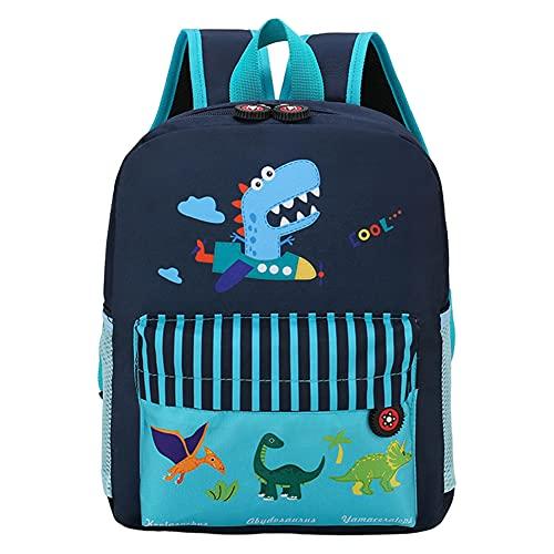 Zaino per bambini con dinosauro, borsa per scuola per bambini Zaini per scuola di cartoni animati stampati in 3D per studenti scolastici per ragazzi e adolescenti