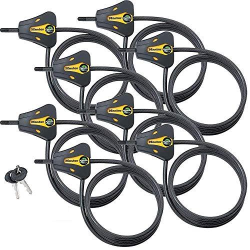 Master Lock - Keyed Alike Trail Camera Python Adjustable Cable Locks 8419KA-8
