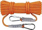 PGKCCNT Orange Outdoor Sécurité Corde d'escalade Corde de sécurité Différentes Longueurs Diamètre 12mm Poids Poids en Plein air Randonnée en Plein air Alpinisme Sports de Plein air Camping (10m-100m)