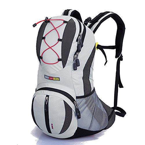 Diamond Candy Zaino da Trekking Outdoor Donna e Uomo con Protezione Impermeabile per alpinismo arrampicata equitazione ad Alta Capacitš€ borsa da viaggio,Multifunzione,22 litri,Grigio Chiaro