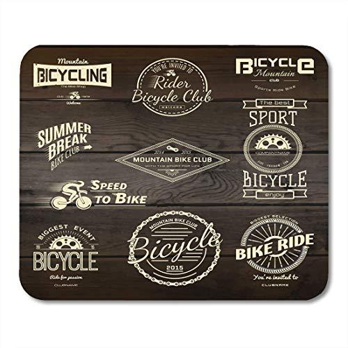 Mauspads fahrrad-fahrradabzeichen und etiketten für jede verwendung mauspad für notebooks, Desktop-computer-matten büromaterial
