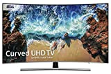 Samsung 55NU8500 55-Inch Curved Dynamic Crystal Colour Ultra HD Smart 4K TV - Slate Black/Eclipse Silver (2018 Model) + FREE Amazon High-Speed 0.9M HDMI 2.0 cable
