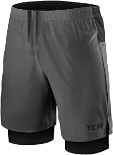 Men's Ultra 2 in 1 Running Shorts with Inner Compression Short and Zip Pocket