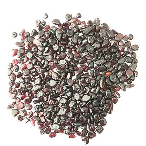 MCWJ 50g / 100g / 1000g al por Mayor 6-9mm Vino Rojo Granate johnstonotita Pulido Piedra caida Cristal gravas Acuario jardín maceta-100 Gramos