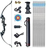 NC93 40lbs Metal Takedown Recurve Bow Set with Archery Accessory Equipment for Right Hand Beginner
