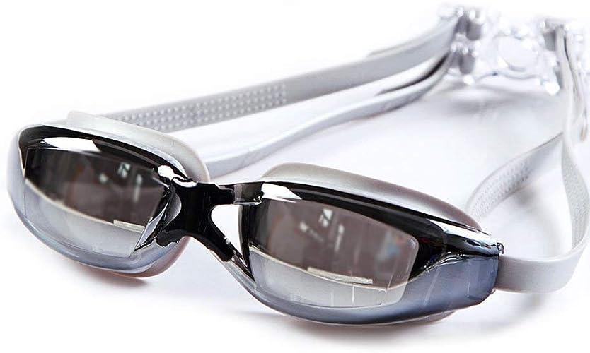 Lunettes de natation Lunettes de natation plates plates HD étanche et anti-brouillard adulte professionnel Lunettes équipeHommest de natation Homme Femme lunettes de sports nautiques Vous êtes le meilleu