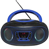 Portable CD Player Boombox, with Bluetooth FM Radio USB MP3 Playback,CD-R/CD-RW,CD-MP3 Player,AC/DC Operated (WCD9949)