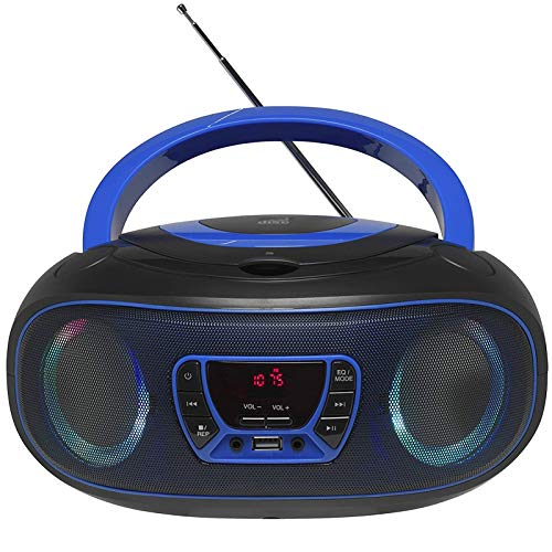WIITHINK Portable CD Player Boombox, with Bluetooth FM Radio USB MP3 Playback,CD-R/CD-RW,CD-MP3 Player,AC/DC Operated