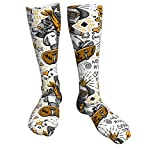 Divertido Skater Dog Character Unisex Transpirable Moda Quarter Calcetines Crew Calcetines Calcetines de Mujer Calcetines Atléticos Para Atlético