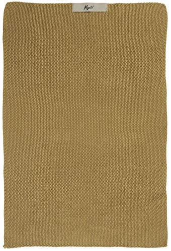 IB Laursen Handtuch Mynte Mustard gestrickt