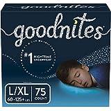 Goodnites Bedwetting Underwear for Boys, L/XL, 75 Ct,...