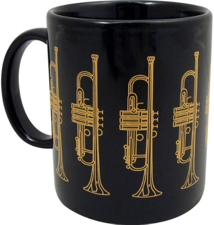 protección post-venta Mug with Trumpet - negro & & & oro by Gift House  ventas en linea