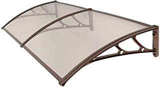 Marquesina Toldo Techo para Puerta de Entrada Terraza Policarbonato 200x80cm Transparente V2Aox