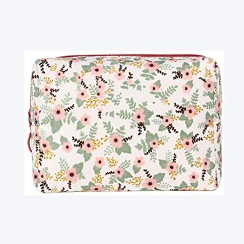RJFAB Blanc, Sac de Toilette Fleur Rose Portable cosmétique Trousse de Toilette Pack for Maison de Stockage Hommes Femmes