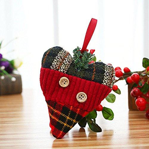 Vovotrade® Noël Ornements Cadeau Père Bonhomme Neige Renne Jouet Poupée Accrocher Des Décorations Christmas Ornaments Gift Santa Claus Snowman Reindeer Toy Doll Hang Decorations (E)