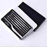 Essencedelight Ear Pick Kit Stainless Steel Ear Cleaning Tool Set Ear Cleaner with Storage Box for Women Men Ear Wax Removing Tools