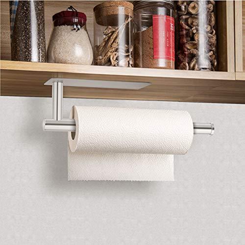Küchenrollenhalter zur Wandmontage, selbstklebender Papierhandtuchhalter unter dem Schrank, Edelstahl Tissure Rollenhalter für Badezimmer WC