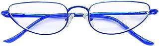 Aiweijia Unisex Mini Full frame metal Glasses Cat Eye light and comfortable Reading glasses
