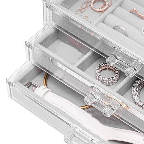 Yuzhijie Estuche de maquillaje portátil organizador de maquillaje, organizador de maquillaje, organizador de cosméticos, ahorro de espacio, cajones de almacenamiento de escritorio tipo caja (color: S)