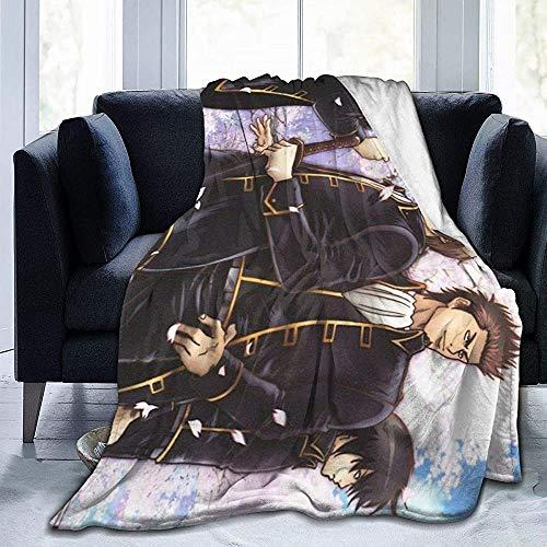 Unisex Blankets,Gin-Tama-Shin Sen Gu Mi Anime Adultos Tirar Mantas, Manta Plegable De Franela para Niños Adultos Que Acampan,127x153cm