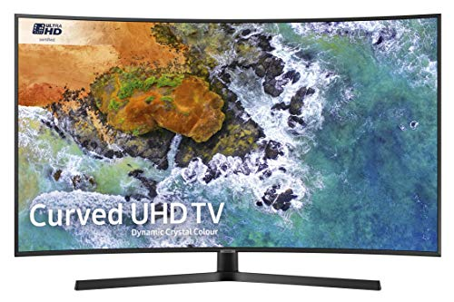 Samsung UE49NU7500 49-Inch Curved Dynamic Crystal Colour 4K Ultra HD Certified HDR Smart TV - Charcoal Black (2018 Model) [Energy Class A]