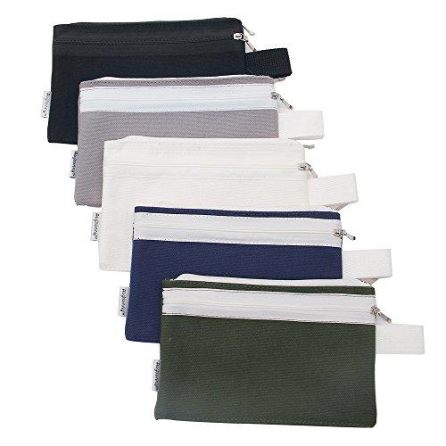 Augbunny Kosmetiktasche aus 100 % Baumwolle, Segeltuch, Reißverschluss, 454 ml, eignet sich auch als Federmappe, Geldbeutel oder als Handy-Tasche multi