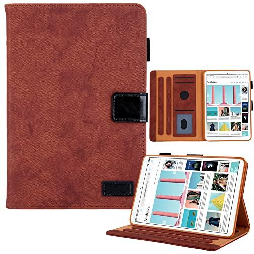 Funda compatible con iPad Mini 6 (8.3 pulgadas, 2021), funda magnética de cuero sintético de primera calidad, estilo empresarial, diseñada para iPad Mini 6, marrón
