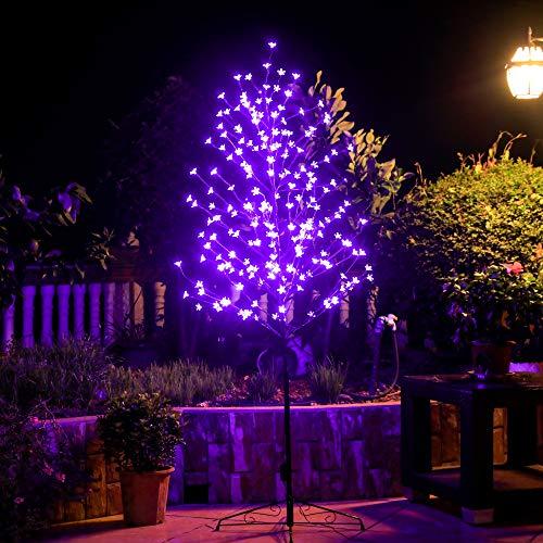 Leruckdite Luz LED para árbol de cerezo de 1,8 m, 208 L, color morado, decoración para dormitorio, interior, exterior, hogar, festival, fiesta, boda, Navidad