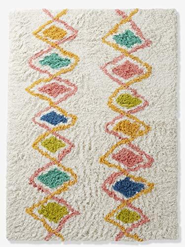 Vertbaudet Hochflor-Teppich Harlekin, Baumwolle Mehrfarbig ONE Size