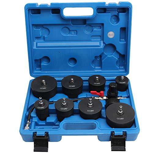 CCLIFE 9tlg Turbolader Ladeluft System Adapter Satz Ladeluftkühler Abdrücksatz Prüfwerkzeuge für Ladeluftschläuche