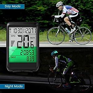 EIVOTOR Velocimetro Bicicleta, Cuentakilómetros, Ciclocomputadores Inalámbrico, Impermeable Odómetro Bicicleta, Ciclocomputador Ordenador Ciclismo con Pantalla retroiluminada Distancia Seguimiento