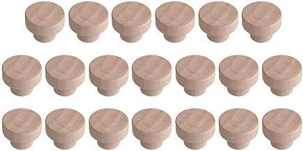 Bocotoer 20 PCSs Houten Lade Knoppen Houten Knoppen voor Laden 40mmx25mm voor Kabinet Lade Schoenendoos Kabinet Deur