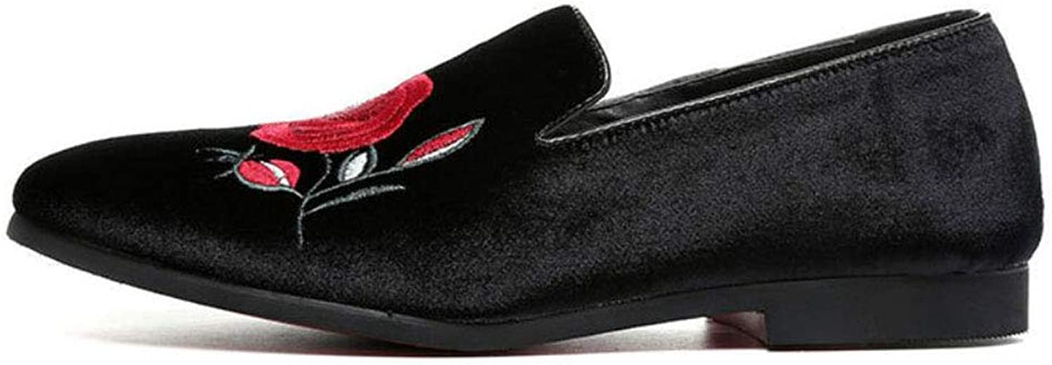 Men's Casual shoes ,Men's Stylish Microfiber Peas shoes,Loafers & Slip-ONS Embroidered Single shoes