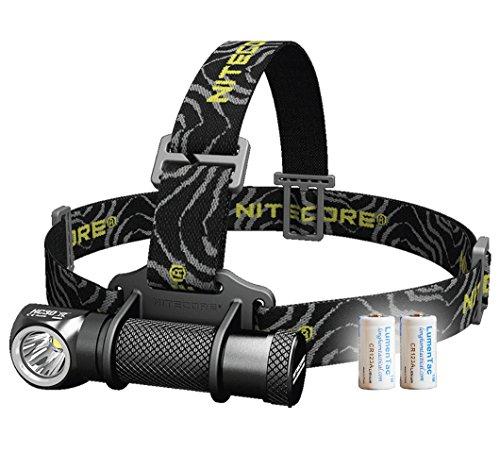 Nitecore Bundle: 3 Items HC30 1000 Lumens Compact Cree XM-L2 U2 LED Headlamp Headlight w/Two LumenTac CR123A Batteries