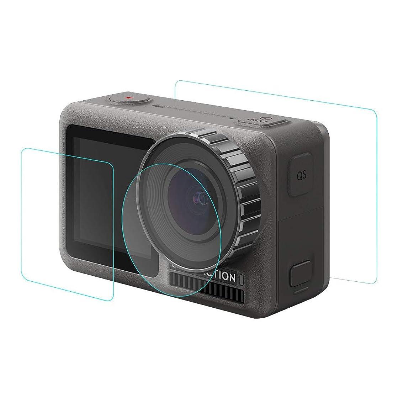 ??Jonerytime??4Set 9H Tempered Glass Film Dual Screen Protector Camera Lens for DJI OSMO Action 4K Camera