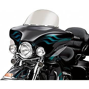 Clear 13 Wave Windshield Windscreen For 1996-2013 Harley Touring Street Glide Electra Ultra Classic