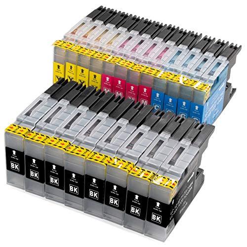 ESMOnline 20 komp. Druckerpatronen (4 Farben) für Brother MFC J430W J625DW J725DW J825DW J925DW J5910DW J6510DW J6710DW J6910DW (LC1220/LC1240/LC1280)