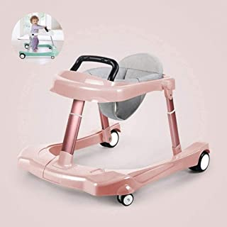 Baby Activity Walker Multi-function Child Anti-rollover Foldable One-touch Baby Walker for Girls Boys 6-18 Months Baby Blu...