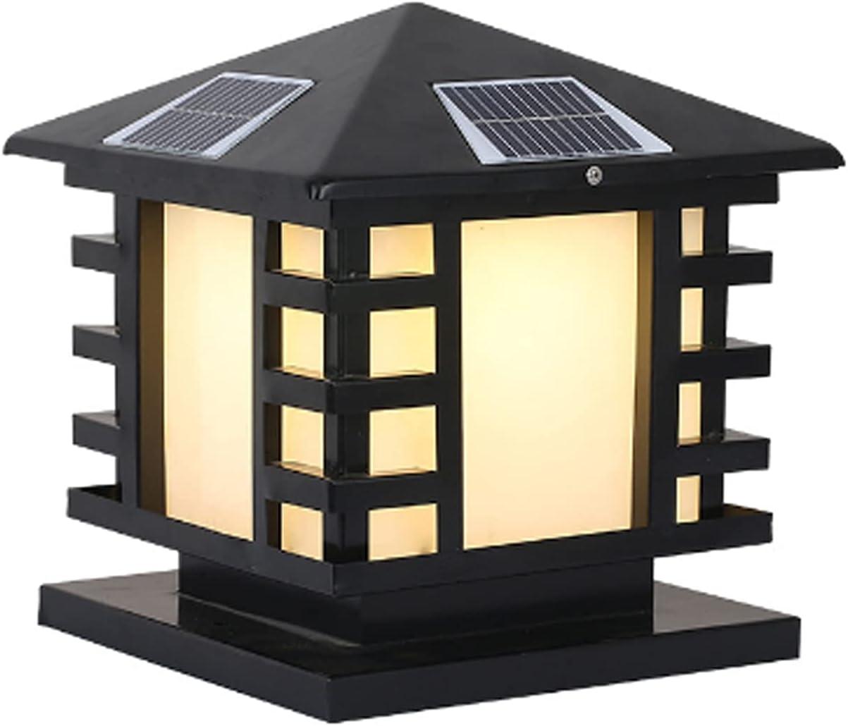 HSCW 6LED Solar Column Head Outdoor Garden Sale Bombing free shipping Waterproof Light Door