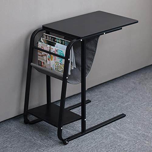 HEMFV Escritorio ergonómico para computadora Computadora de escritorio, las piernas del metal estilo industrial computadora de escritorio moderno escritorio de madera de acero del marco, ajustable for