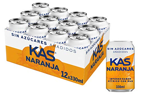 Kas Naranja Zero, Refresco 330 ml - 12 latas