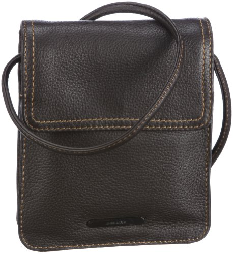 GERRY WEBER Los Angeles II Flap Bag XS 08/90/02016, Damen Umhängetaschen, Braun (darkbrown 860), 16x18x4 cm (B x H x T)
