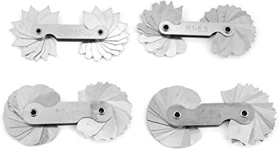 4pcs Stainless Steel Radius Fillet Gauge Concave Convex Measuring Tool R0.3-1.5/ R1-6.5/ R7-14.5/ R15-25
