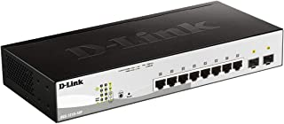 D-Link DGS-1210-10P Web Smart Switch - 10 Ports - Manageable - 8 x 10/100/1000 PoE Ports + 2 x Gigabit SFP Ports